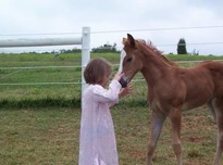 Amber with baby horse